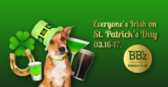 St. Patrick's Day a BBz bárban!